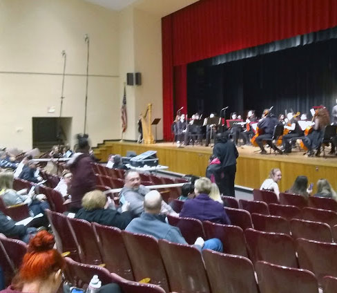 IHS Choral, and String programs put on a combined concert.