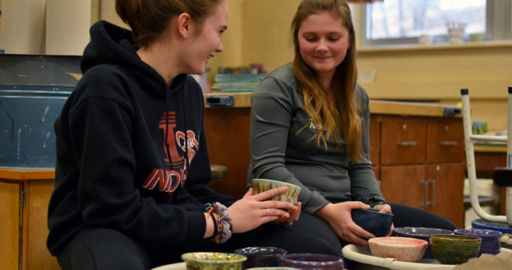"Art students prepare bowls for annual ""Soup-er Bowl"