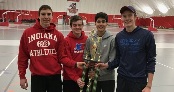 Winter track distance runners break and set impressive new records