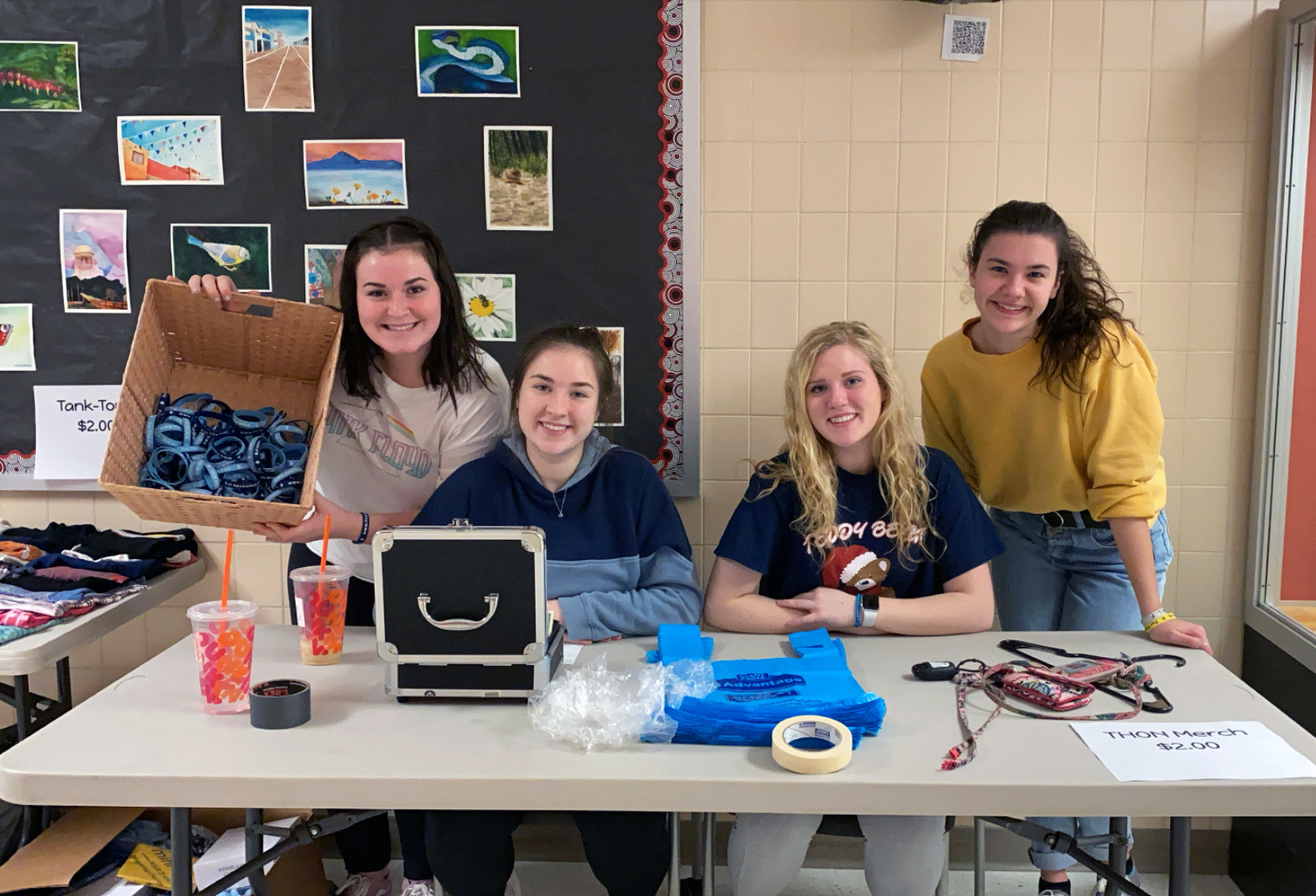 Students organize the first-ever IHS Mini-THON garage sale