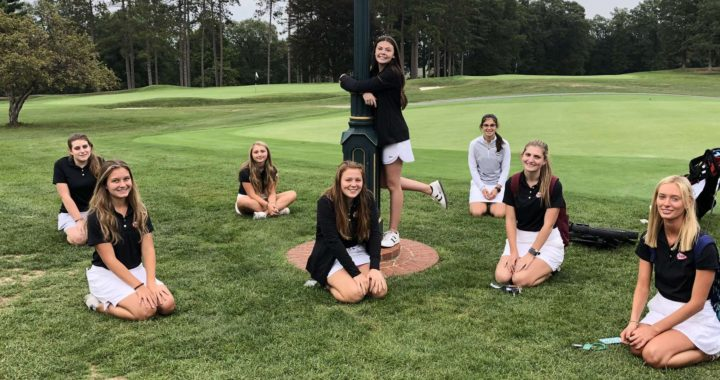 IHS Girl's Golf team breaks school and team record