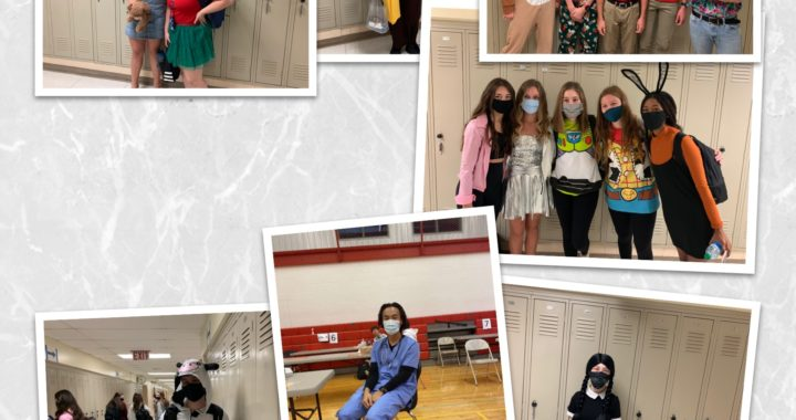 IHS seniors spook up the hallways with dress-up day