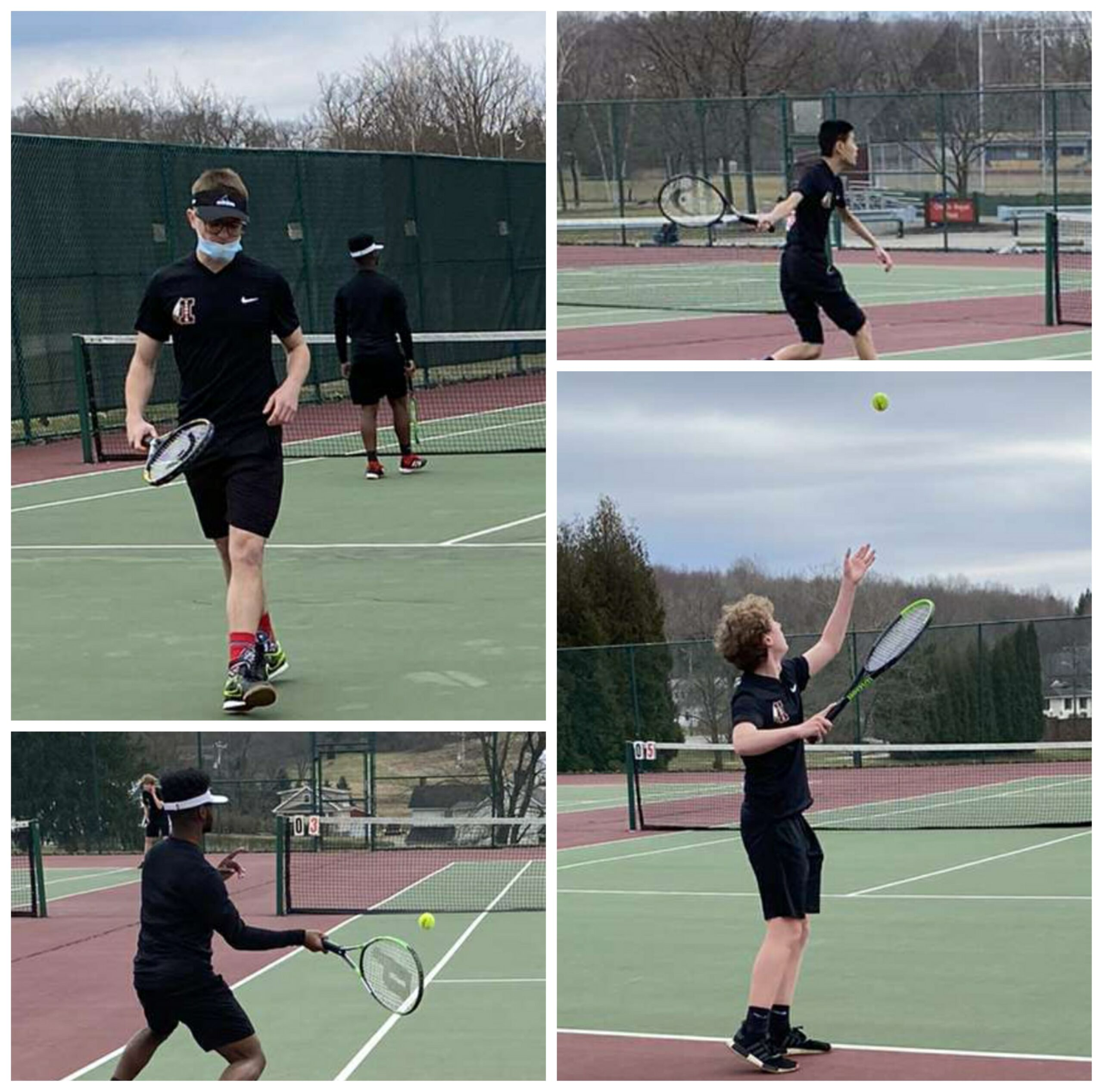 Boys' tennis team volleys its way into a new season